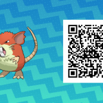 016 Pokemon Sun and Moon Shiny Female Raticate QR Code