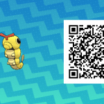 017 Pokemon Sun and Moon Shiny Caterpie QR Code
