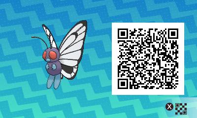 019 Pokemon Sun and Moon Female Butterfree QR Code