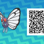 019 Pokemon Sun and Moon Male Butterfree QR Code