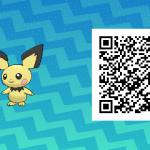 024 Pokemon Sun and Moon Pichu QR Code