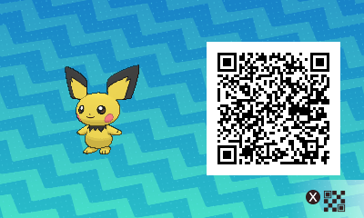 024 Pokemon Sun and Moon Shiny Pichu QR Code