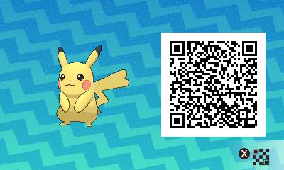 025 Pokemon Sun and Moon Female Pikachu QR Code