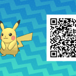 025 Pokemon Sun and Moon Male Pikachu QR Code