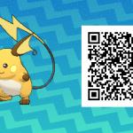 026 Pokemon Sun and Moon Female Raichu QR Code