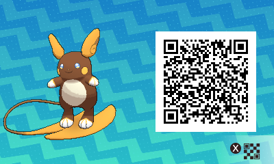 026 Pokemon Sun and Moon Shiny Alolan Raichu QR Code