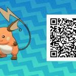 026 Pokemon Sun and Moon Shiny Female Raichu QR Code