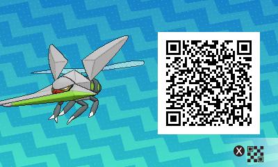 029 Pokemon Sun and Moon Shiny Vikavolt QR Code