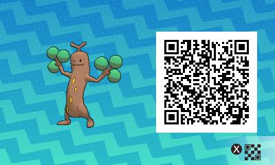 031 Pokemon Sun and Moon Female Sudowoodo QR Code