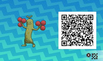 031 Pokemon Sun and Moon Shiny Female Sudowoodo QR Code