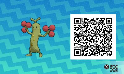 031 Pokemon Sun and Moon Shiny Male Sudowoodo QR Code