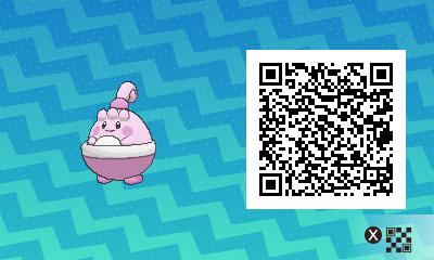 032 Pokemon Sun and Moon Shiny Happiny QR Code