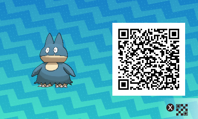 035 Pokemon Sun and Moon Munchlax QR Code