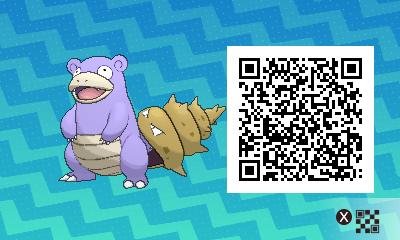 038 Pokemon Sun and Moon Shiny Slowbro QR Code