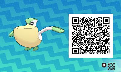 041 Pokemon Sun and Moon Shiny Pelliper QR Code