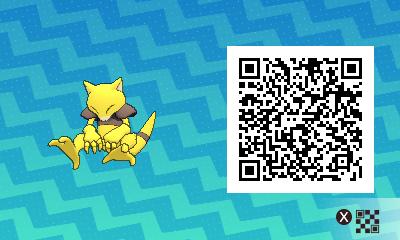 042 Pokemon Sun and Moon Abra QR Code