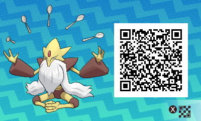 044 Pokemon Sun and Moon Mega Alakazam QR Code