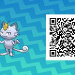 045 Pokemon Sun and Moon Alolan Meowth QR Code