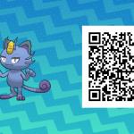 045 Pokemon Sun and Moon Shiny Alolan Meowth QR Code