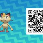 045 Pokemon Sun and Moon Shiny Meowth QR Code