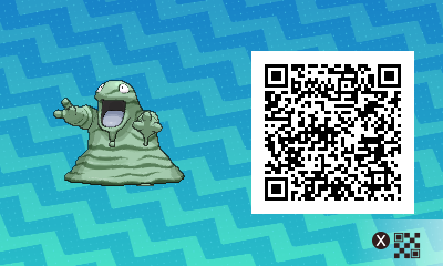050 Pokemon Sun and Moon Shiny Grimer QR Code
