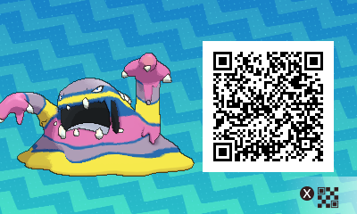 051 Pokemon Sun and Moon Shiny Alolan Muk QR Code