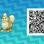 052 Pokemon Sun and Moon Shiny Growlithe QR Code