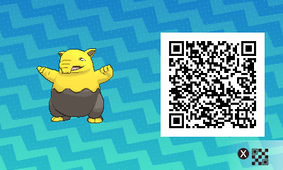 054 Pokemon Sun and Moon Drowzee QR Code