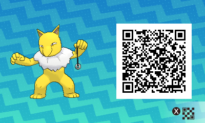 055 Pokemon Sun and Moon Female Hypno QR Code