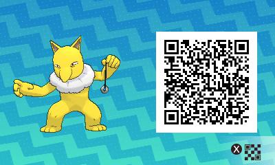 055 Pokemon Sun and Moon Male Hypno QR Code