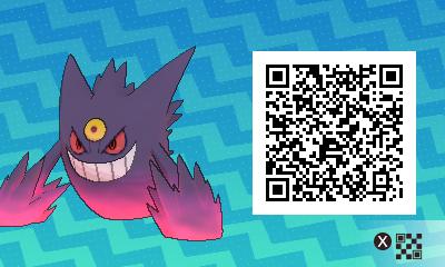 063 Pokemon Sun and Moon Mega Gengar QR Code
