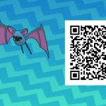 068 Pokemon Sun and Moon Female Zubat QR Code