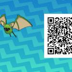 068 Pokemon Sun and Moon Shiny Female Zubat QR Code