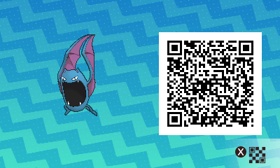 069 Pokemon Sun and Moon Female Golbat QR Code