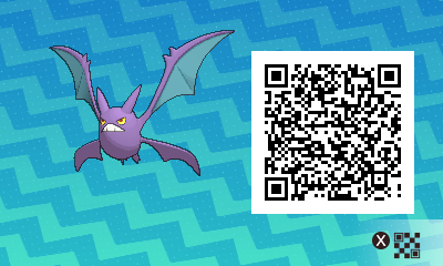 070 Pokemon Sun and Moon Crobat QR Code
