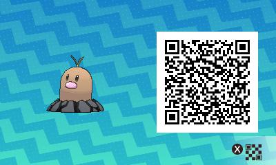 071 Pokemon Sun and Moon Alolan Diglett QR Code