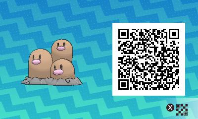 072 Pokemon Sun and Moon Dugtrio QR Code