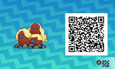 072 Pokemon Sun and Moon Shiny Alolan Digtrio QR Code