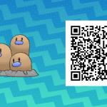 072 Pokemon Sun and Moon Shiny Dugtrio QR Code