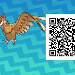 074 Pokemon Sun and Moon Fearow QR Code