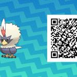075 Pokemon Sun and Moon Rufflet QR Code