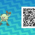 079 Pokemon Sun and Moon Shiny Mankey QR Code