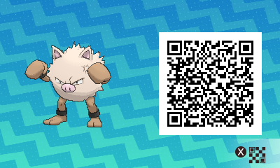 080 Pokemon Sun and Moon Primeape QR Code