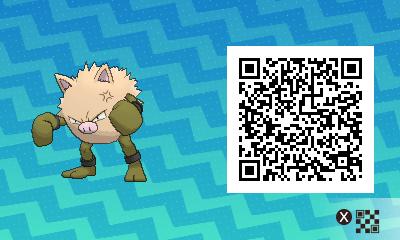 080 Pokemon Sun and Moon Shiny Primeape QR Code