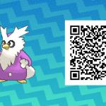 081 Pokemon Sun and Moon Shiny Delibird QR Code