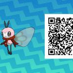 084 Pokemon Sun and Moon Shiny Ribombee QR Code