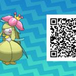 086 Pokemon Sun and Moon Shiny Lilligant QR Code
