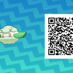 087 Pokemon Sun and Moon Cottonee QR Code