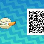 087 Pokemon Sun and Moon Shiny Cottonee QR Code