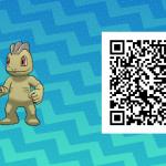 095 Pokemon Sun and Moon Shiny Machop QR Code